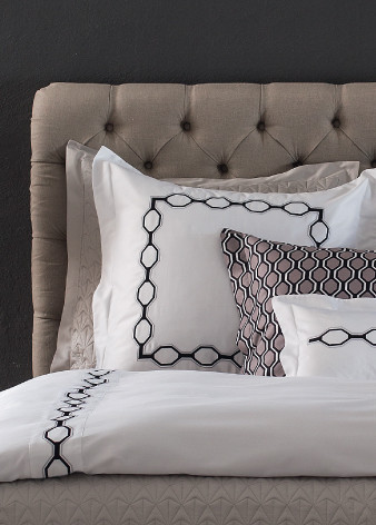 Milano Embroidered Queen duvet cover<br />King duvet cover